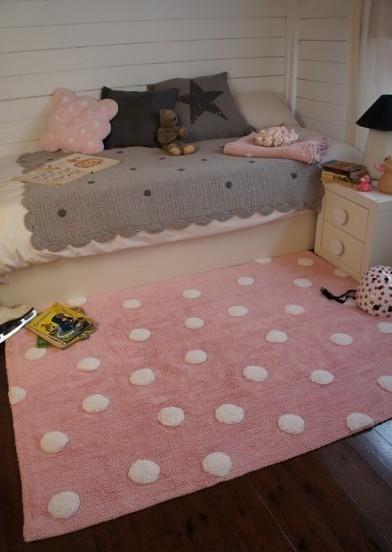 Alfombra lorena canals lavable topos rosa enfants et maison - Alfombras ninos lavables ...