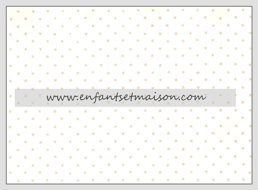 Papel pared blanco con puntitos topo enfants et maison for Precio papel pared