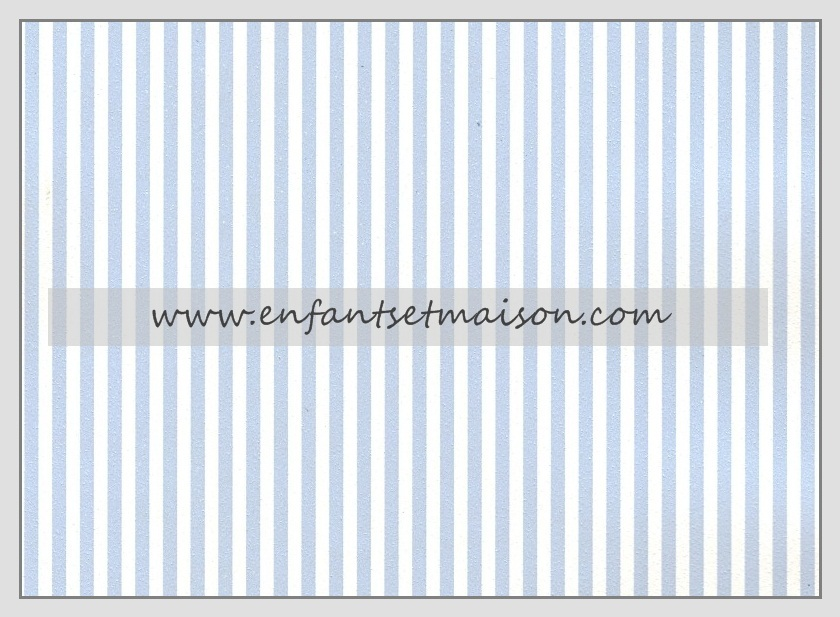 Papel pared rayas de 2mm azul cielo enfants et maison - Papel pared rayas verticales ...