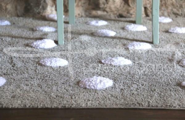 alfombra lorena canals lavable topos gris