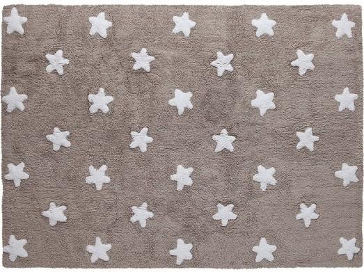Alfombra lorena canals lavable lino estrellas blancas - Alfombras lavables lorena canals ...