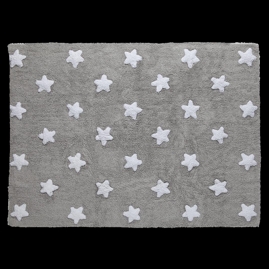 Alfombra lorena canals gris estrellas blancas enfants et - Alfombra habitacion bebe ...