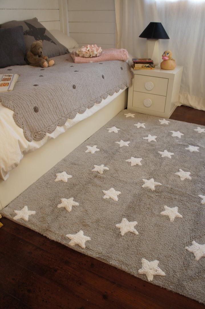 Alfombra lorena canals gris estrellas blancas enfants et - Alfombra lorena canals ...