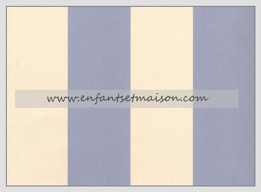 Papel pared rayas de 5 5cm color azul y beige enfants et - Papel pared rayas ...