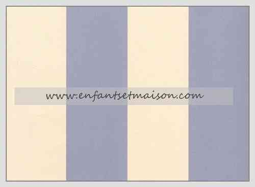 PAPEL PARED RAYAS DE 5,5CM COLOR AZUL Y BEIGE
