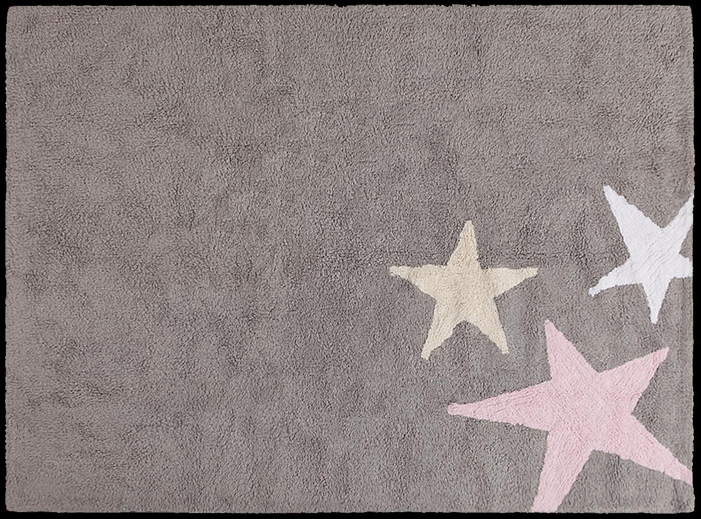 Alfombra lorena canals lavable gris 3 estrellas tricolor - Alfombras ninos lavables ...