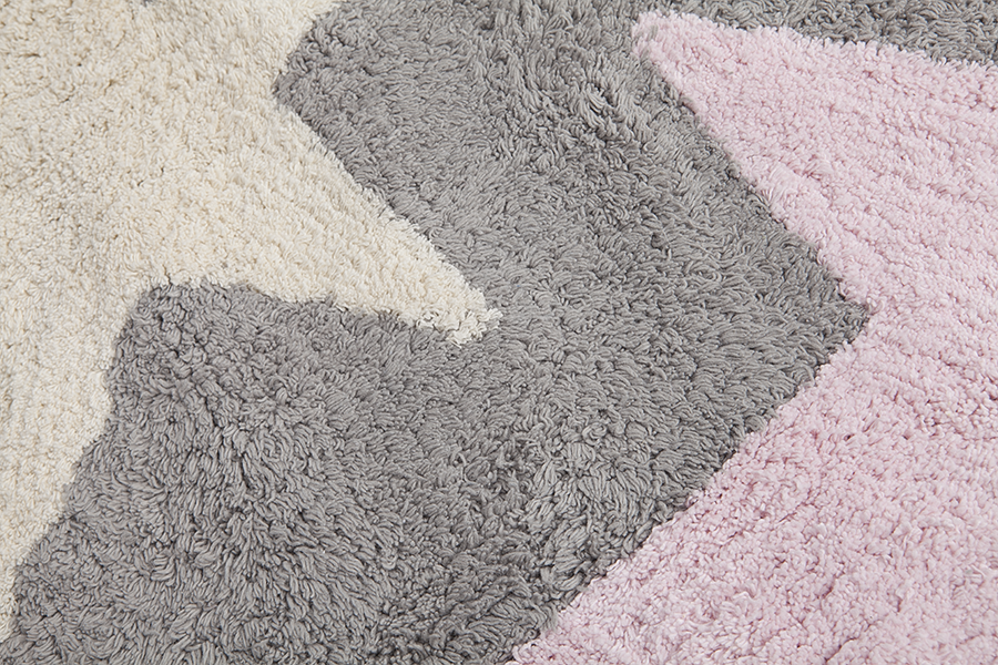 Alfombra lorena canals lavable gris 3 estrellas tricolor - Lorena canals alfombras ...