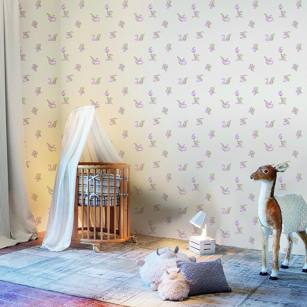 Papel pared pilar burguet count azul enfants et maison - Papeles infantiles para paredes ...