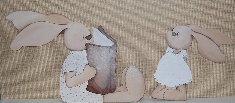 Cuadros bebes siluetas y murales infantiles de magda - Siluetas madera infantiles ...