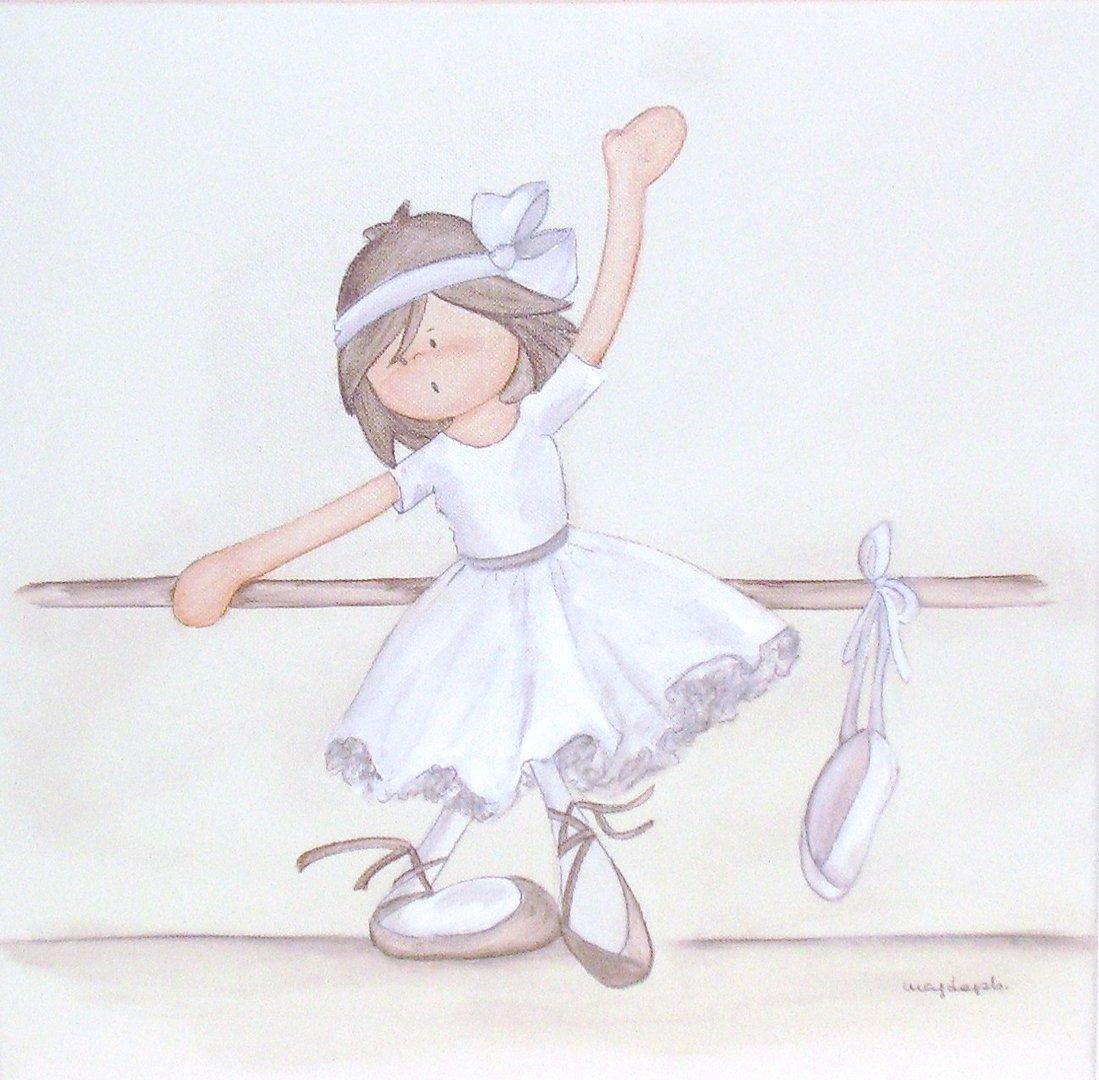Cuadros infantiles enfants et maison - Cuadros bailarinas infantiles ...