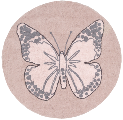 Alfombra Lorena Canals lavable Butterfly nude