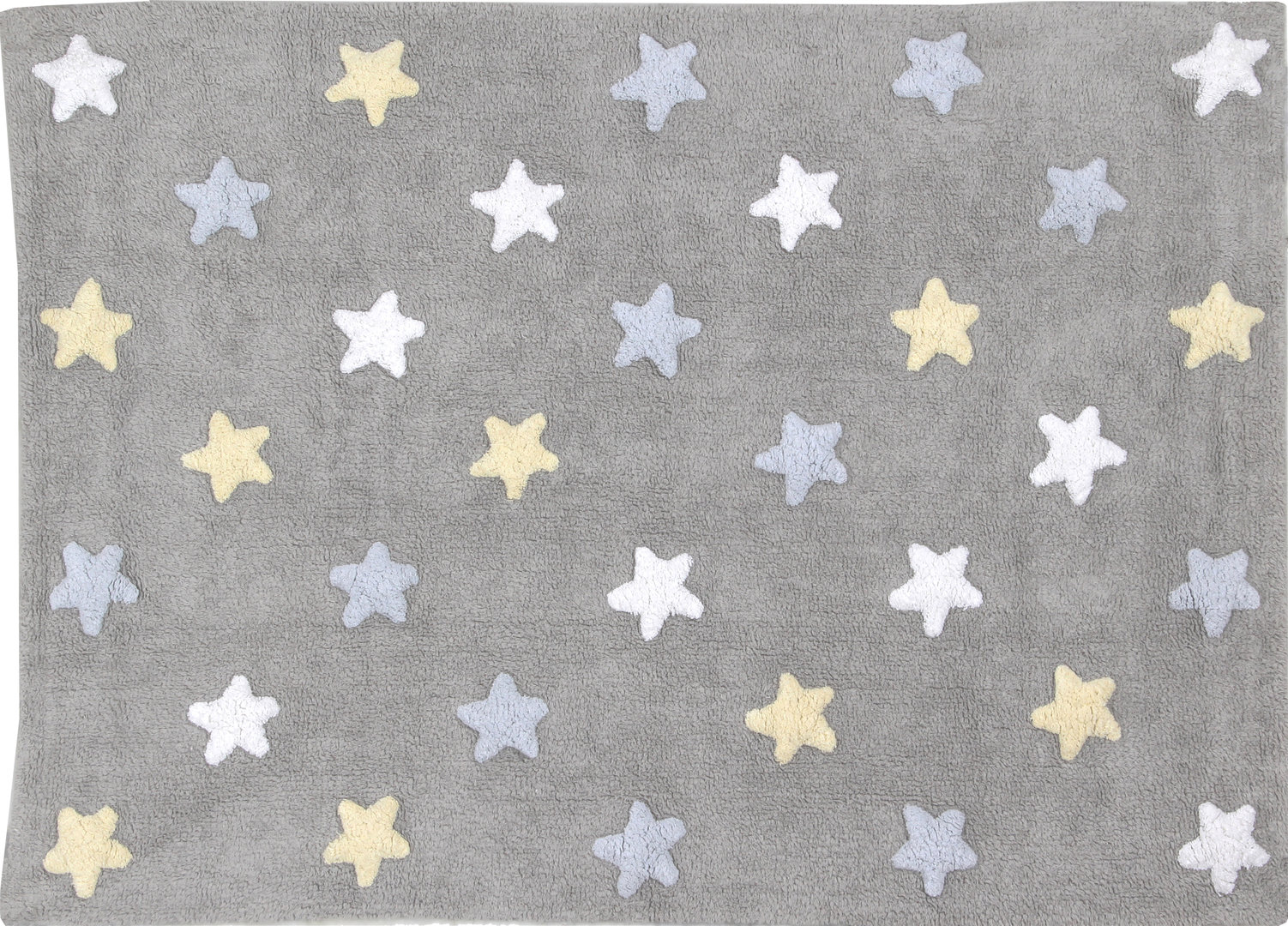 Alfombra lorena canals gris tricolor stars azul enfants et - Alfombra lorena canals ...
