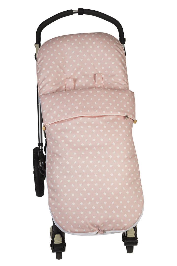 Saco para silla unviersal nid rosa estrellas enfants et for Saco para silla maclaren