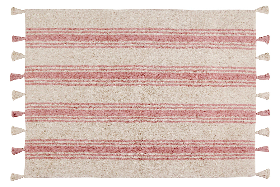 Alfombra Lorena Canals lavable Stripes rosa coral