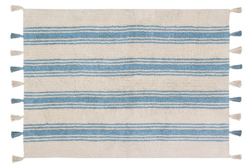 Alfombra Lorena Canals lavable Stripes azul