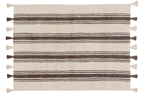 Alfombra Lorena Canals lavable Stripes gris oscuro
