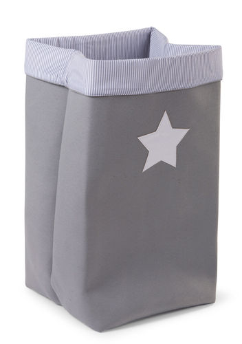 Cesta Canvas plegable gris Childhome 32-32-60cm