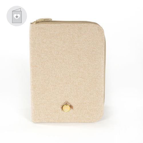 Funda libro de nacimiento Sweet Tweed beige