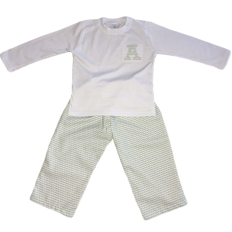 Pijama Little Waves mint personalizado