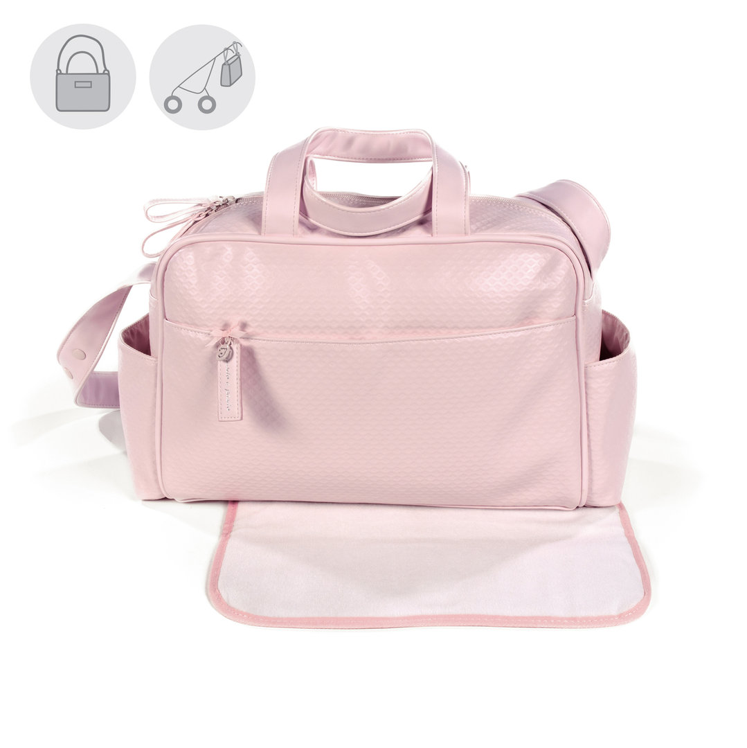 BOLSA CANASTILLA PIQUE ROSA NEW COTTON