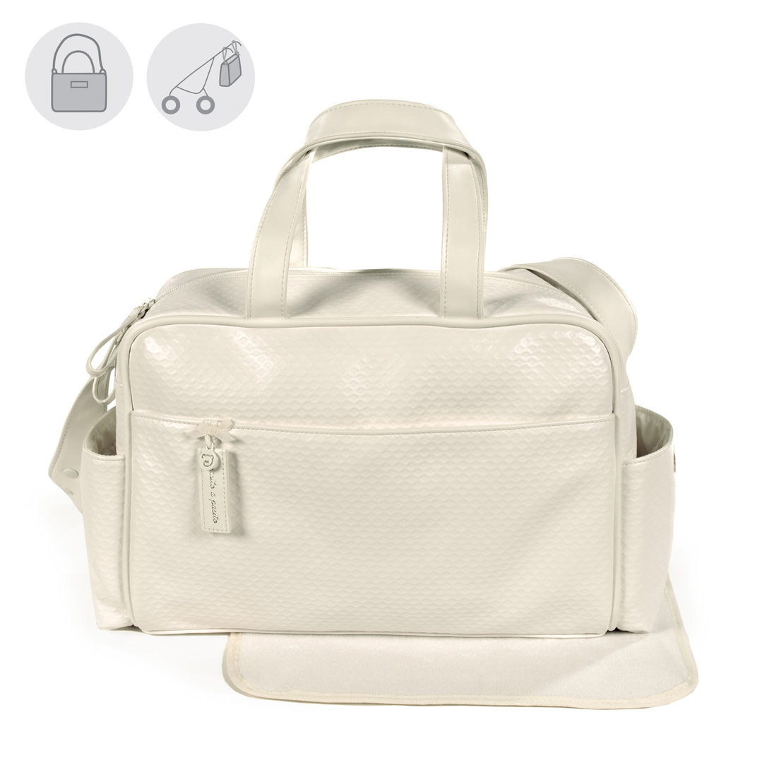 BOLSA CANASTILLA BEIGE PIQUE NEW COTTON