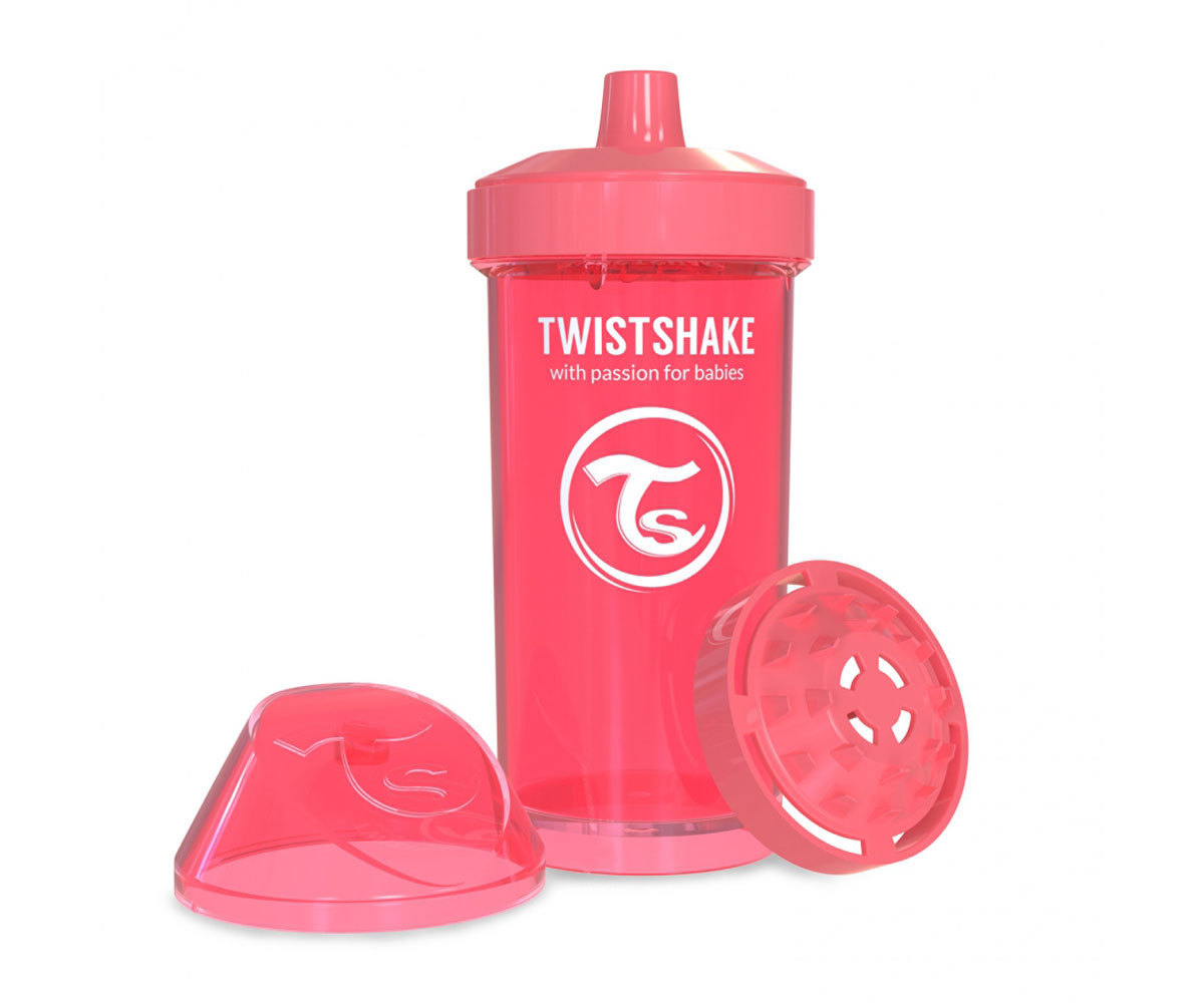 Vaso Twistshake Fruit Spash coral 360ml