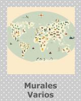 Coordonn papeles pintados murales telas y alfombras - Papel pintado mapamundi ...