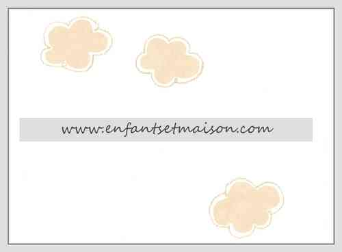Papel pared Nubes beige