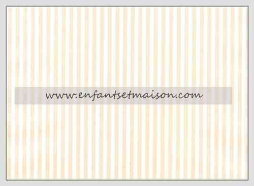 Papel pared Rayas de 2MM beige