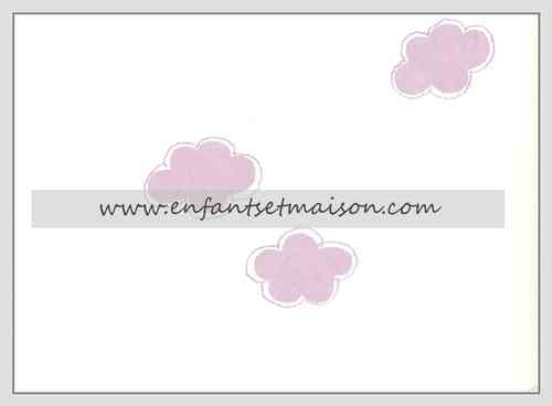 Papel pared Nubes malva