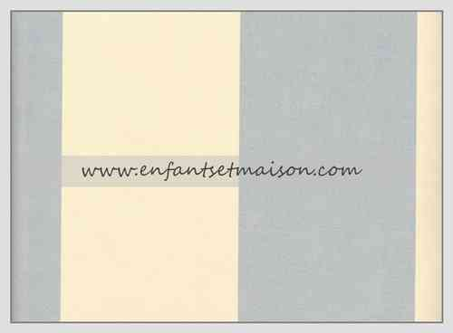Papel pared Rayas 9CM azul y beige