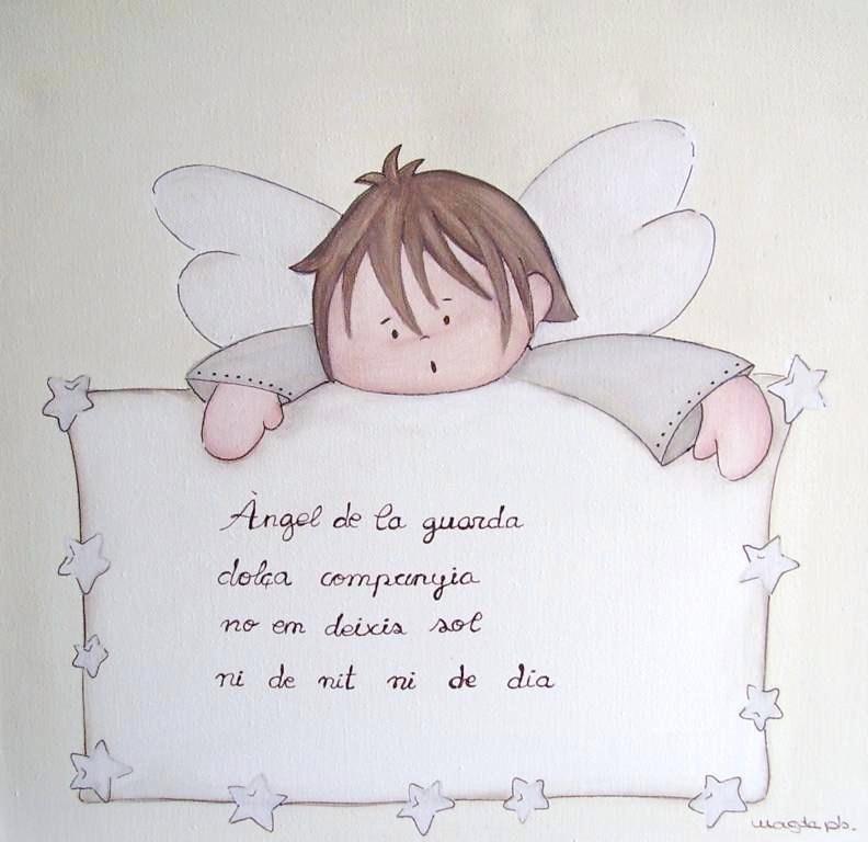 Cuadro ni o angel de la guarda magda play enfants et maison - Cuadros decorativos infantiles para ninos ...