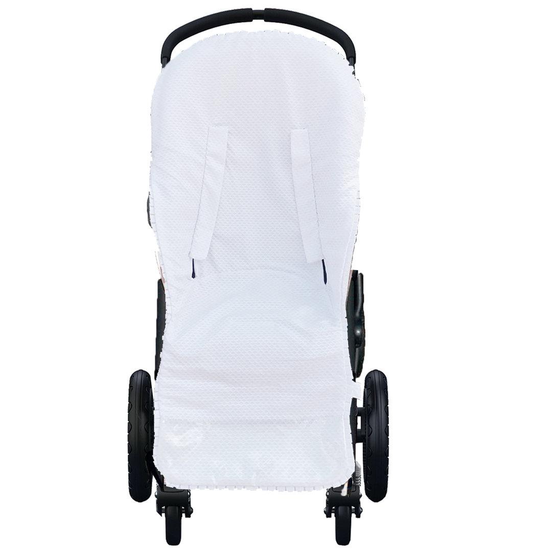 MOON-BEBE Funda fina de algod/ón para silla de paseo Bugaboo cameleon 2 y 3 BLANCO