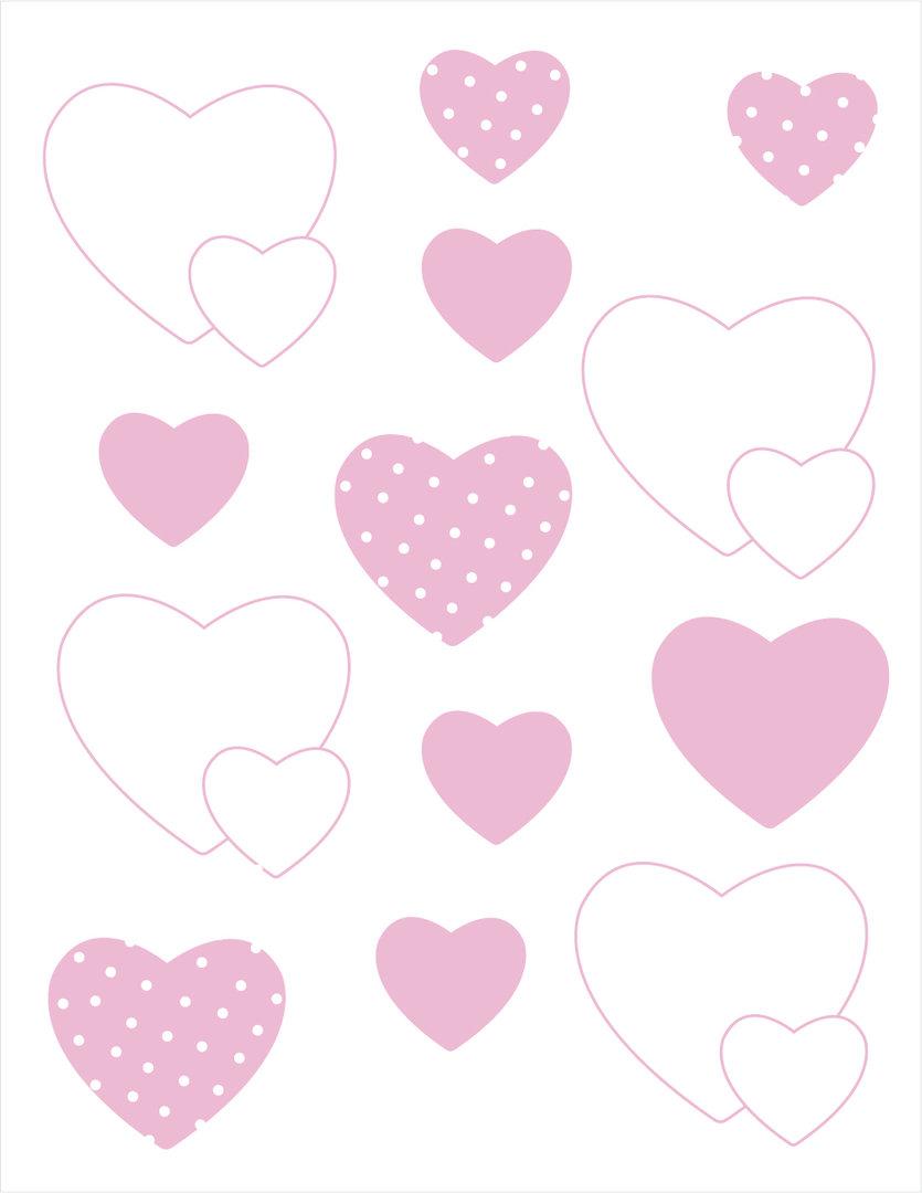 vinilo decorativo corazones rosa