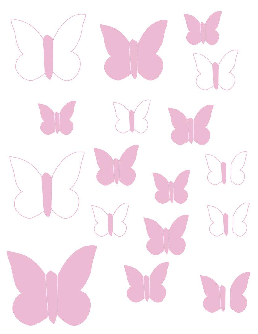 Vinilo decorativo mariposas rosa enfants et maison - Papel de vinilo ...