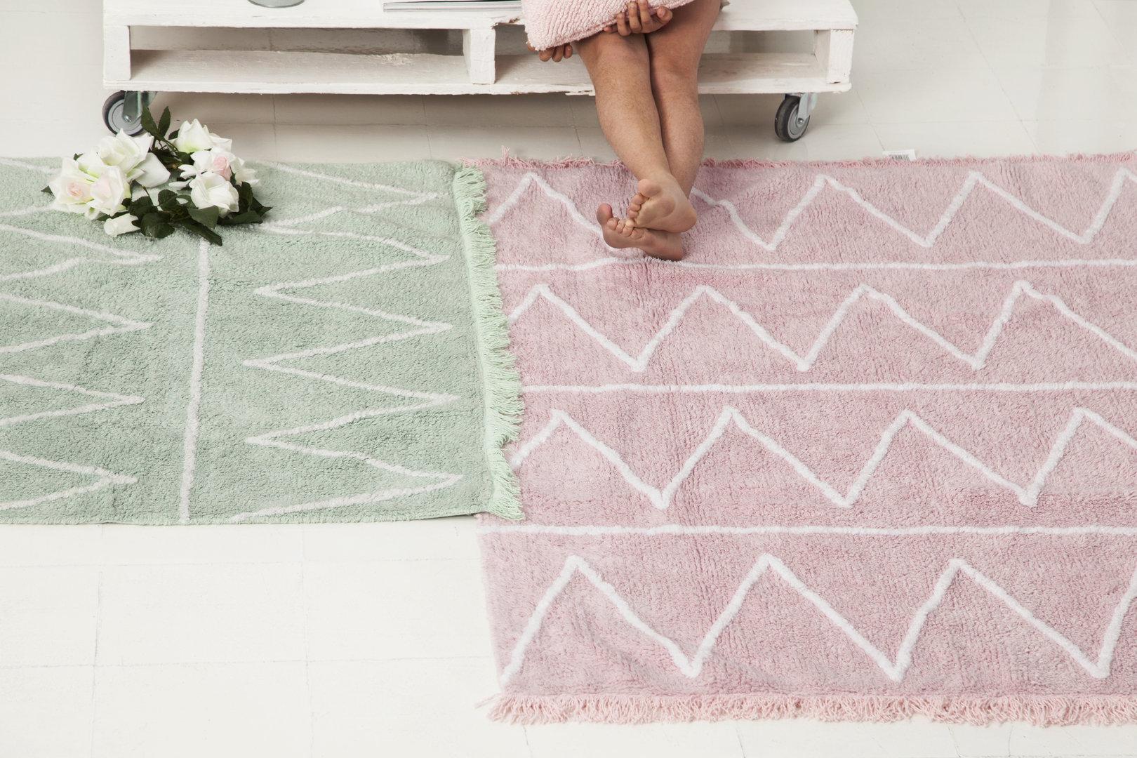 Alfombra lorena canals lavable hippy rosa suave enfants et maison - Alfombra algodon lavable ...