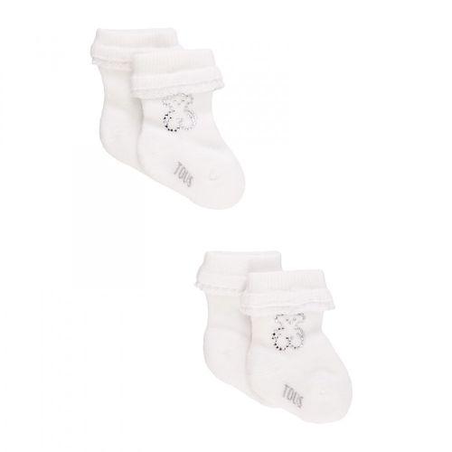 f112cf63b02 Dos pares de calcetines blancos con volantitos ceremonia Tous