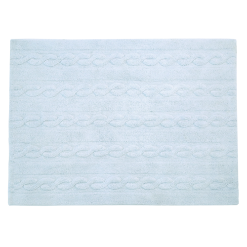 Alfombra Lorena Canals lavable Trenzas soft blue