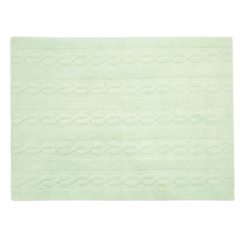 Alfombra Lorena Canals lavable Trenzas soft mint