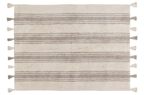 Alfombra Lorena Canals lavable Stripes gris glaciar
