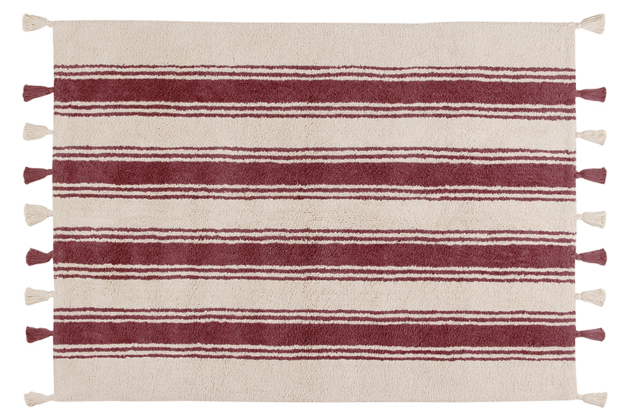 Alfombra Lorena Canals lavable Stripes marsala