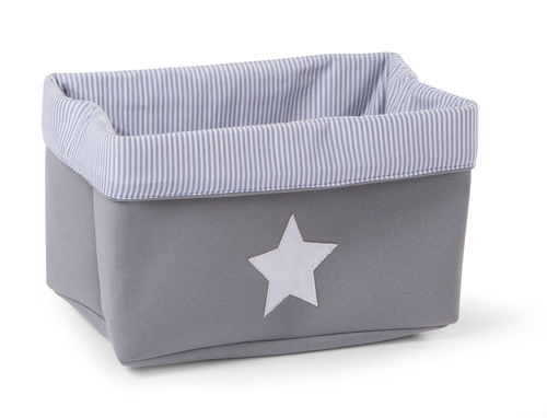 Cesta Canvas plegable gris Childhome 32-20-20cm