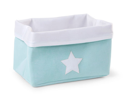 Cesta Canvas plegable mint Childhome 32-20-20cm