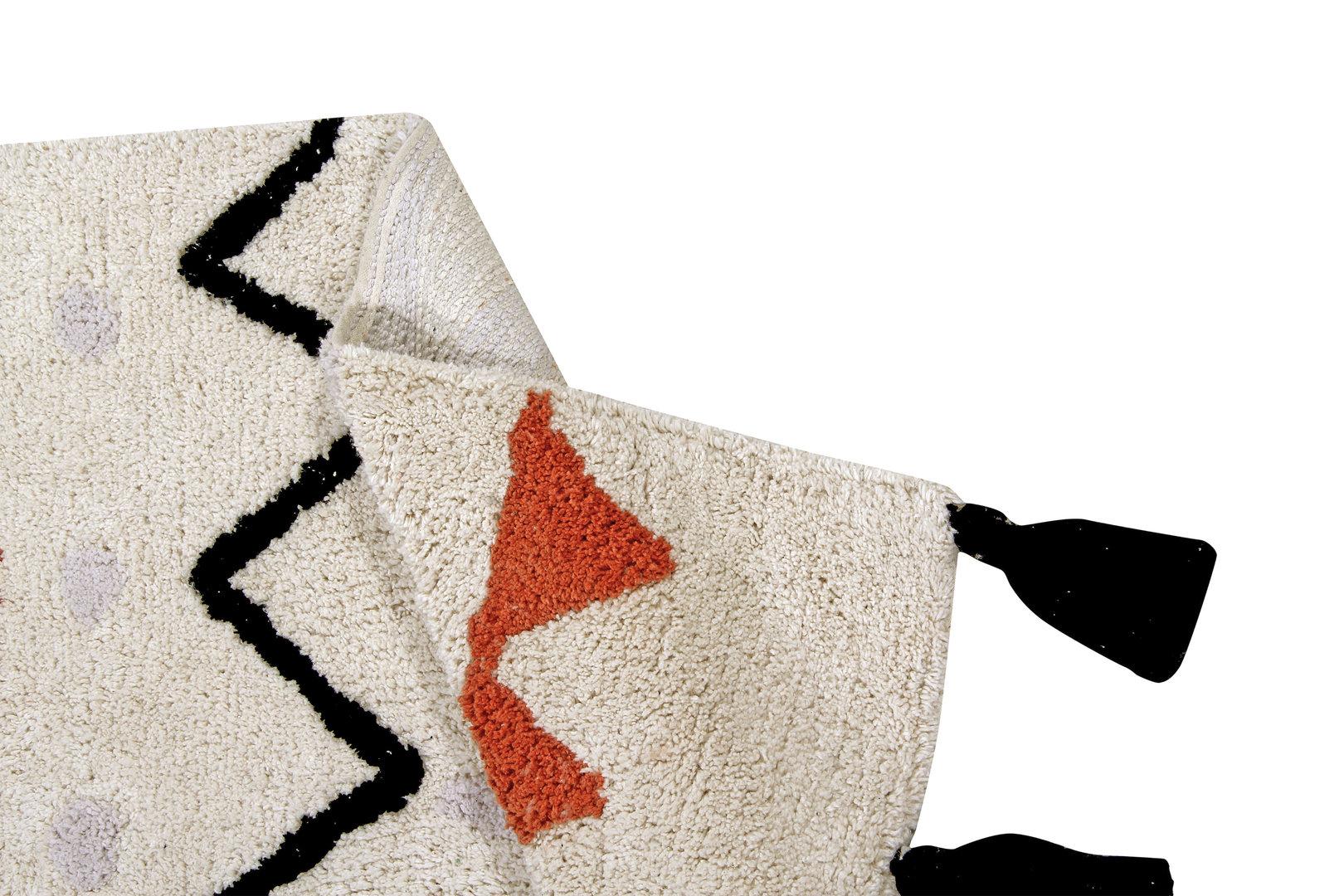 Alfombra lavable azteca natural terracota enfants et maison for Valor alfombra