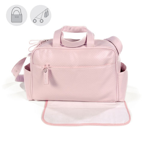 Bolsa canastilla piqué rosa New Cotton