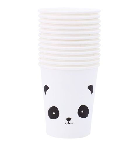 12 Vasitos de papel Panda A Little Lovely