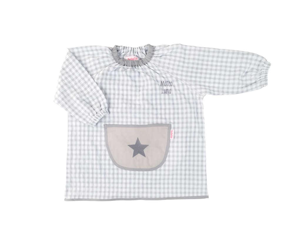 Babi personalizado con bolsillo Estrella gris - Enfants et Maison