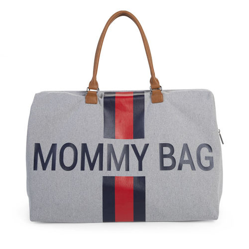 Bolsa Mommy Groot Canvas Grey Stripes Red Blue