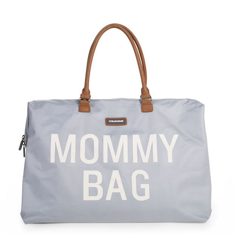 Bolsa Mommy Groot Grey Off White