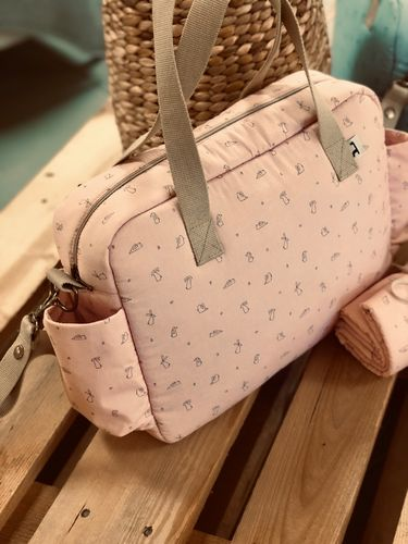 Bolso paseo impermeable Li and Ted  rosa